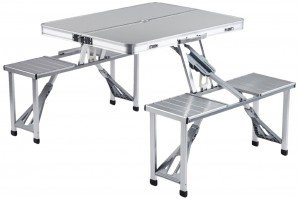 Aluminium Camping Folding Table With Chairs