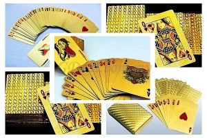 Deck of 24K Gold Foil Poker Cards – Includes 54 Cards with 2D Effects