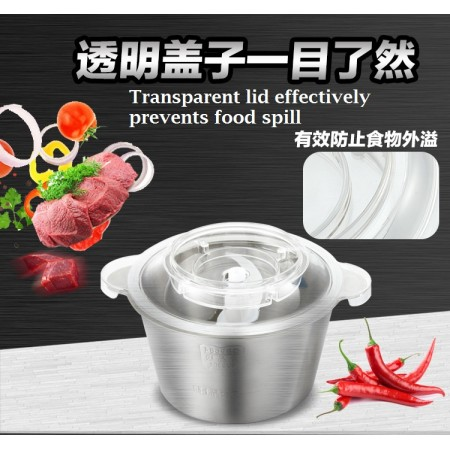 LX-03D LeXiang High-quality 2L Multi-Function Stainless Steel Meat Grinder Electric Meat Mincer