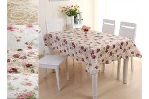 PVC Rectangle Pastoral Style Waterproof Dining Table Cloths (137cm x 183cm) - 4 Designs