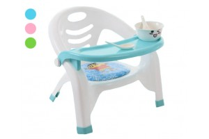 Dining Chair Detachable Plastic Tray For Children Kindergarten Portable Stool Eating Back Folding Dining Chair