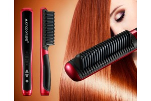 KD-388 Kingdom Hair Straightener And Hair Curler Comb Hair Styling Tool