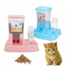 2-In-1 Japanese Style Automatic Pet Food Water Feeder Dispenser - 3 Colors Available