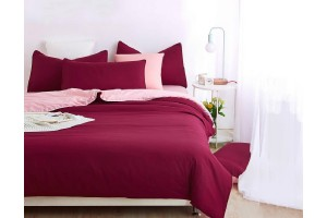 3-In-1 Premium Solid Plain Bed Sheet King Size (1.8) - 10 Colors Available