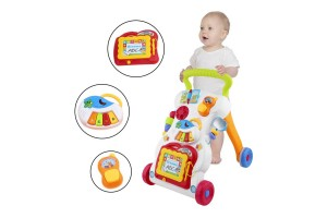 Multi-functional Creative Baby Learning Walker Music Toys with Stand Walk and Sit Play Mode for Baby