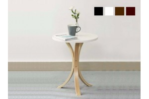 Simple Modern Wooden Small Round Table Coffee Table Small Living Room Side Table - 4 Colors Available