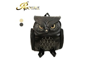 ROYALE Fashion Cute Owl Backpack Women Cartoon School Bags For Teenagers Girls PU Leather Women Backpack (RYL-201)