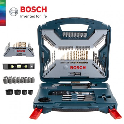 BOSCH 100pcs Titanium X-Line Multipurpose Drill Bit & Screwdriver Bit Set (2607017397)