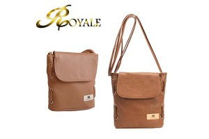 ROYALE MaoMao Women's Casual PU Leather Shoulder Crossbody Bucket Bag (RYL-205)
