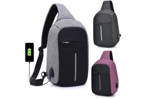 Crossbody Bag Anti Theft Backpack USB Rechargeable Cross-body Women Bags Boys Girls Single Shoulder Bag