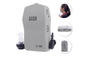 AXON X-136 Pocket Hearing Aid Mini In Ear Sound Amplifier Deaf Aid Volume Adjustable Audiphone Elderly Hearing Aid