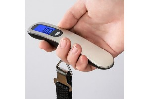 Stainless Steel Portable Scale One-line Portable Electronic Scale Luggage Scale Household Scale Ribbon Scale 50kg