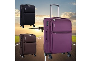 3-In-1 Luggage Oxford Trolley Suitcase Luggage Wearable Password Lock 8 wheels (20Inch+24Inch+28Inch)