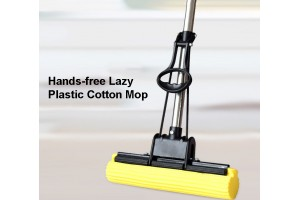 PVA Sponge Mop New Mops Collusion Cotton Roll Wheel Stainless Steel Wring Out Water Sponge Mop (TB-01)
