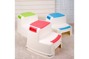 Malt Well-Height Step Stool for Kids Toddler's Stool for Potty Training and Use In The Bathroom or Kitchen Versatile Two-Step Design for Growing Children Soft-Grip Steps Provide Comfort and Safety