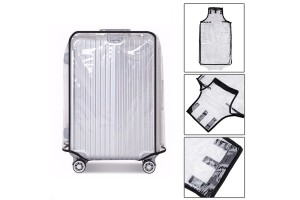 3-In-1 Transparent PVC Luggage Cover Suitcase Protective Cover Dust Bag Luggage Casing (20+24+28Inch)