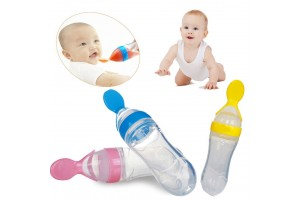 Silicone 90ml Bottle Squeeze Spoon Feeding Baby Bottle Feeding Silicone Spoon Take Medicine Spoon