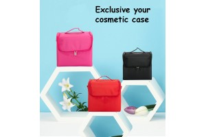 Multi Layer Cosmetic Bag Makeup Box Beauty Case Make Up Bag Organizer Toiletry Bag Kits Storage Travel Waterproof Material