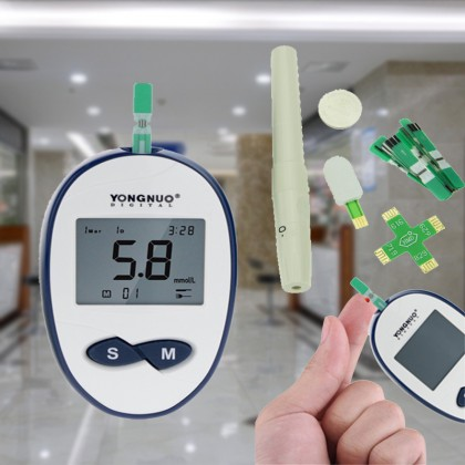 Convenient Fast Accurate Blood Glucose Monitor Meter Set Health Body Check Blood Test With Blood Glucose Test Strips And Lancets