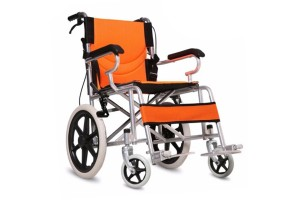 Portable Foldable Adjustable Super Light Weight Breathable Home Travel Wheelchair Manual Wheel Chair (HC-08609)