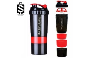SKY TRAVELLER SKY310 Fitness Sports Protein Shake Bottle Mixing Powder Blender Shaker Cup Mixer Water Drinkware