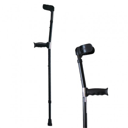 Medical Support 14-Point Aluminum Crutches Armpit Crutches Adjustable Height Walking Cane