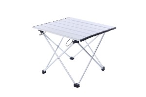 Outdoor Aluminum Folding Table Self-driving Wild Barbecue Portable Picnic Table