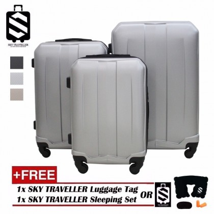 SKY TRAVELLER SKY313 High Quality Exquisite Noble 3-In-1 Luggage With 8 Wheels Set (20Inch+24Inch+28Inch)