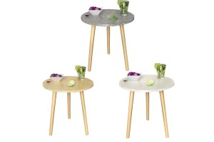 Small Round Table Small Coffee Table Simple Mini Table Corner 40CM Nordic Sofa Side Table Small Round Table T2280-2007