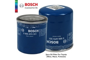 BOSCH 2pcs Oil Filter For Toyota Series (Hilux/Hiace/Fortuner) YZZD2 - 0986AF0351
