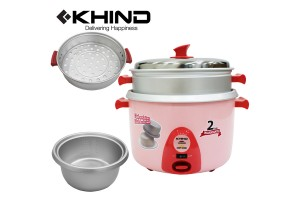 KHIND 9 Cups Rice Cooker 1.8L Aluminium Inner Pot with Steam Tray (RC918)