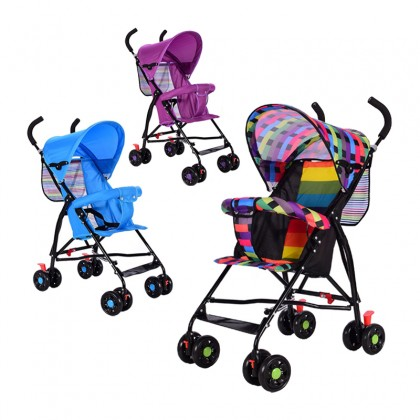 Baby Stroller Lightweight Portable Foldable Durable Comfortable Convenient Versatile Eco-Friendly 4-Double-Wheel Baby Car