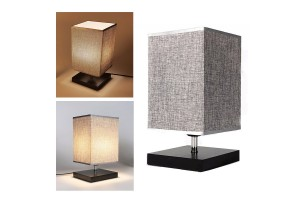 Square Style LED Table Light Desk Lamp Decorative Bedroom Living Room Study Light
