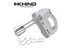 KHIND Hand Mixer 160W With Beater and Dough Hook (HM200)