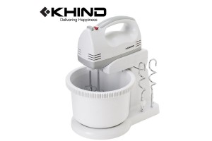 KHIND Stand Mixer 160W With Beater and Dough Hook (SM220)