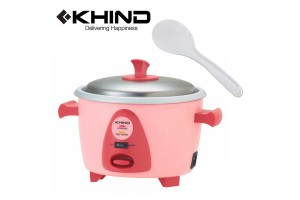 KHIND 4 Cups Rice Cooker 0.6L Aluminium Inner Pot Smart Switch (RC906)