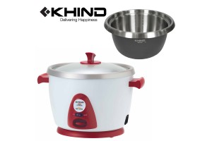 KHIND 1L Anshin Rice Cooker with Smart Switch Stainless Steel Inner Pot (RC110M)​ - Random Colour