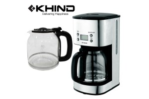 KHIND Coffee Maker LCD Display Makes 12 Cups Of Coffee (CM100SS)