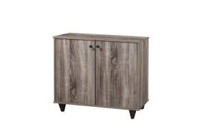 UB Furniture 2 Sides Simple Modern Design Home Economy Wooden Sonama Oak Dark Shoes Cabinet (SC159)