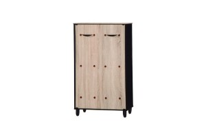 UB Furniture Simple 2D Latte Shoes Cabinet Closed Hall Cabinet Dust-Proof Shoes Rack Storage Cabinet - 5059-2A (70018)