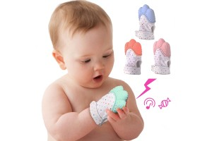 2pcs Infant Teething Chewing Mitten Baby Silicone Teether Pacifier Gloves Baby Teething Glove Teether