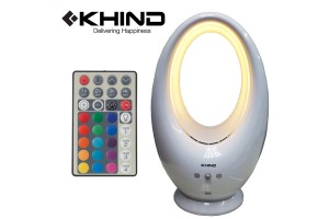 KHIND Bladeless Fan Cool Soft Wind Adjustable LED Preset Timer Aroma Tray With Remote Control ( BS006L)