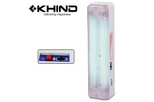 KHIND Rechargeable Emergency Light Operating Duration up to 6 Hours Portable or Wall Mounted (EM2004)