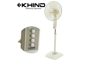 KHIND Stand Fan with Finger-proof Fan Guard and Adjustable Height (SF1682)