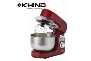 KHIND Stand Tilt Beater Baking Cake Biscuit Mixer Low Noise Operation with 5 Speed Setting (SM350P)