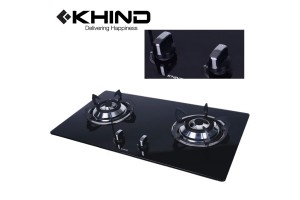 KHIND Glass Hob Battery Ignition Tempered Glass Cook-top (HB802G)