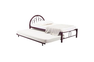 NH Home Alvis Single Metal Bed Frame With Pull Out Bed Frame Set (6557068+6557069)