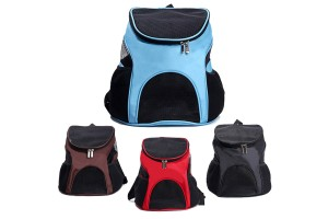 Comfortable Breathable Mesh Oxford Cloth Backpack See Through Windows With Side Pockets For Small Pets