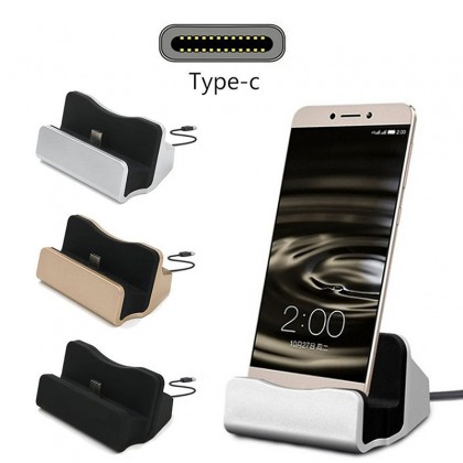 USB Universal Type-C Charging Dock Station Fast Portable Phone Charger Stand Data Sync Transfer Cable Base
