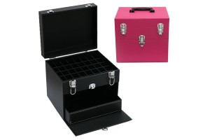 Large Capacity Beauty Vanity Case Nail Polish Compartment Make Up Storage Container Protective Box With Drawer